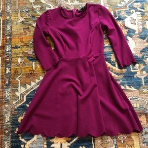 NWOT LuLu's Maroon Dress